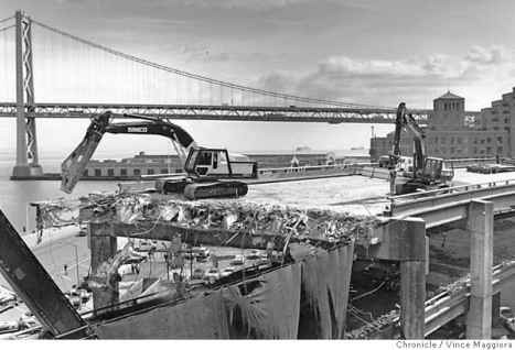 SF embarcadero freeway demolish