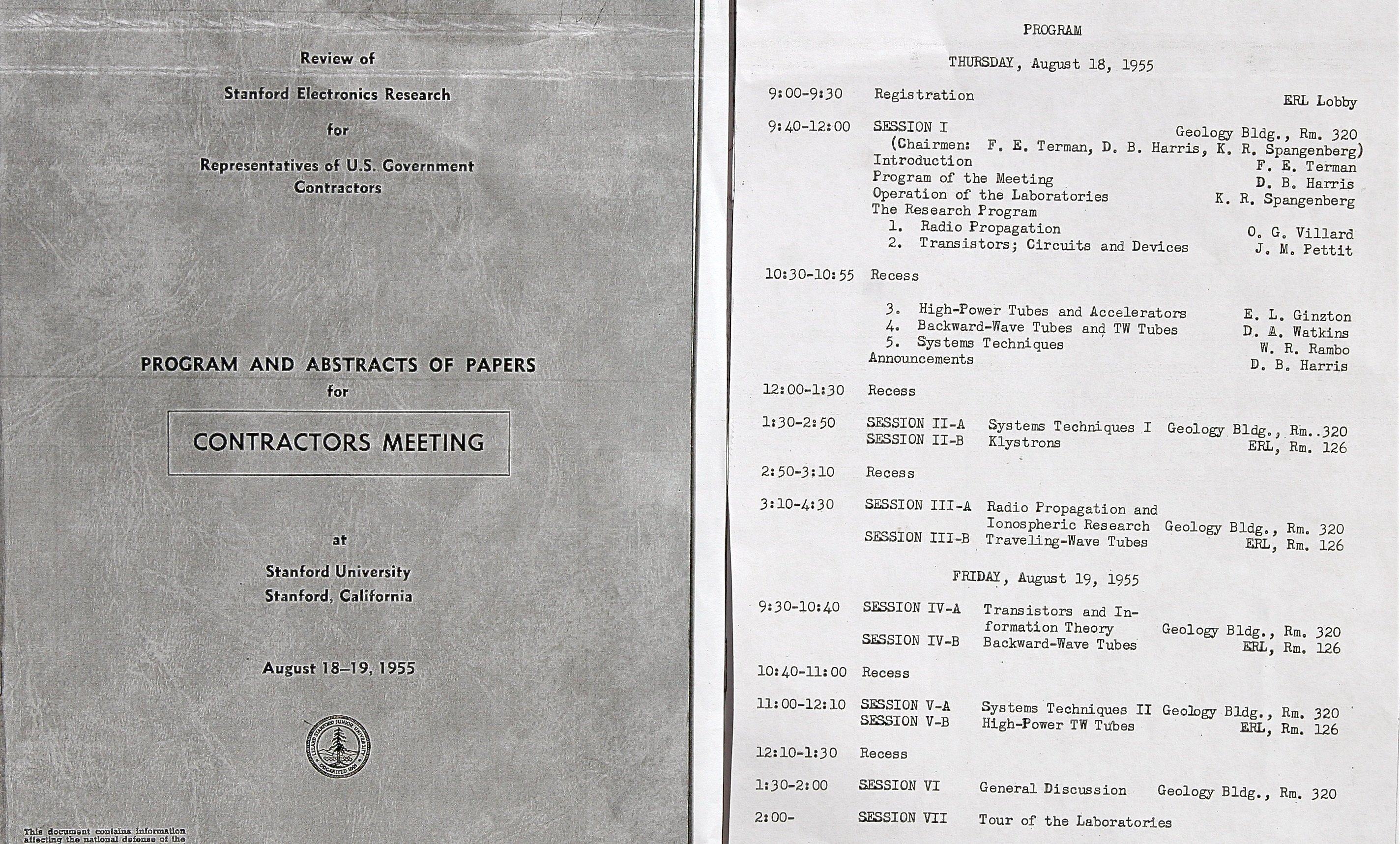 Steve Blank Secret History Of Silicon Valley Jammer Circuits 1955 Stanford Contractors Meeting