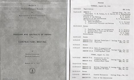 1955 Stanford Contractors Meeting