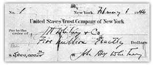 Jock Whitney writes himself a check to fund J.H. Whitney Co.