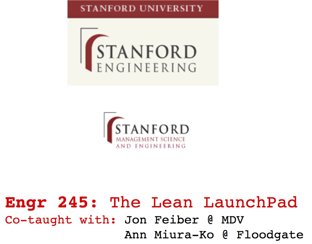 Steve Blank The Lean LaunchPad Online