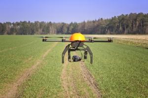 drone over farm