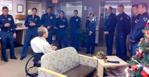 Last year's team meeting with Dr. Glen House at Penrose-St. Francis Hospital