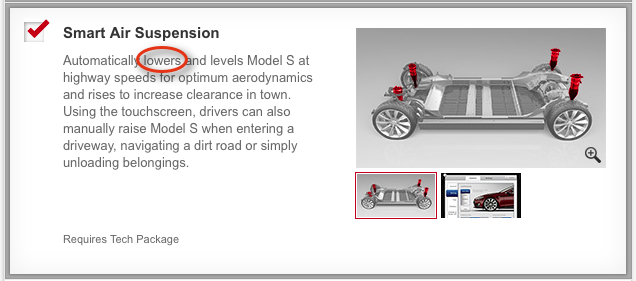 Tesla Air Suspension prior to version 5.8