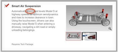 Tesla Air Suspension prior to version 5.8