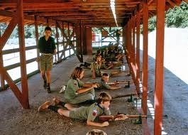 scouts at rifle range