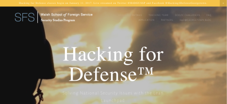 Hacking for Defense Goes National